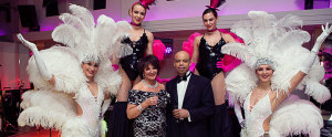 ultimate event dancers showgirls at a 50th birthday party