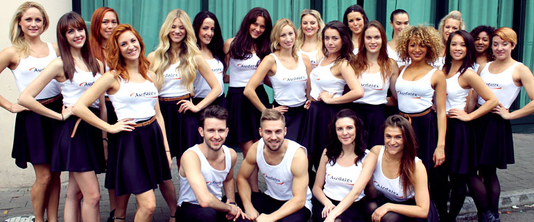 ultimate event dancers team after the car flash mob performance