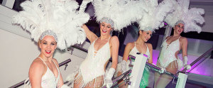 vegas showgirls at the lloyds tsb awards evening