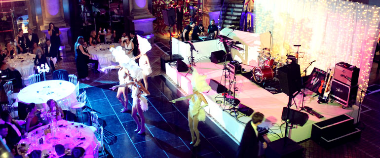 dancers performing at the mayfair hotel