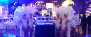 showgirls at the monex europe event