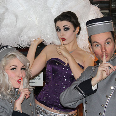 dancers in great gatsby themed costumes