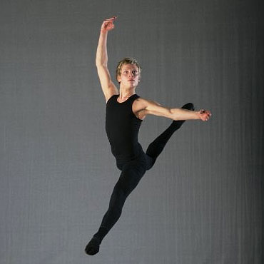 male ballet dancer in black