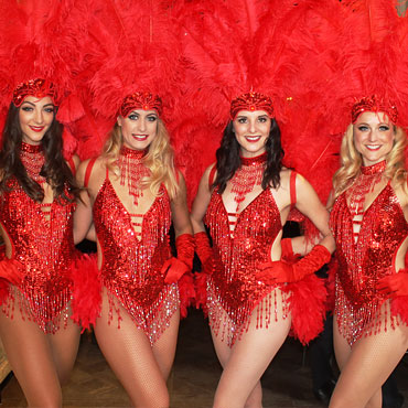dancers in vegas showgirl costumes