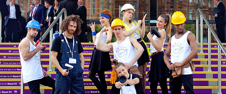street dancers at the British Insurance Brokers Association Exhibition 2015