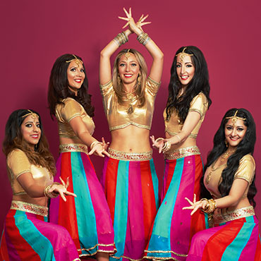 group of female bollywood dancers