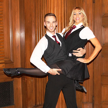 dancing waiters at corporate event