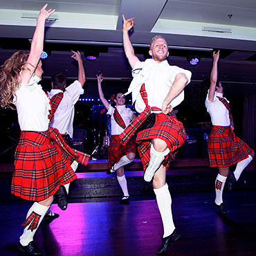 scottish dancers at a corporate event
