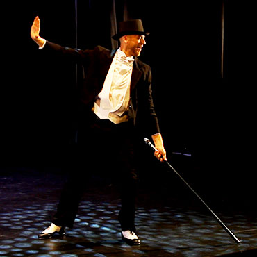 tap dancer with a cane
