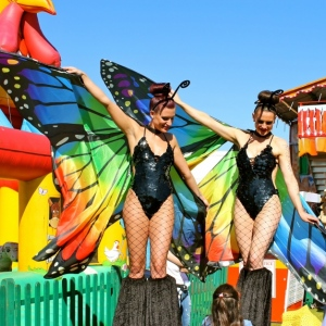 Butterfly-Stilts-Fairground