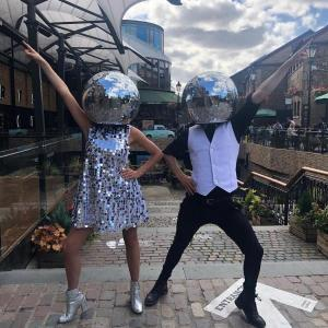Disco-Ball-Head-Silver-Dress