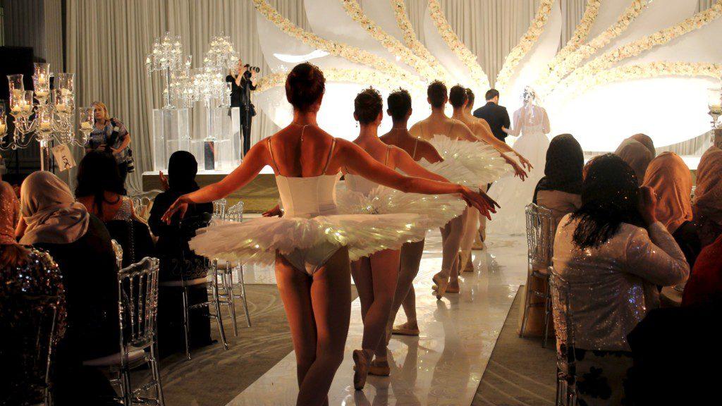 Beautiful ballerinas at luxury wedding in London